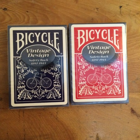 Bicycle Vintage Design (Safety Back Blue)