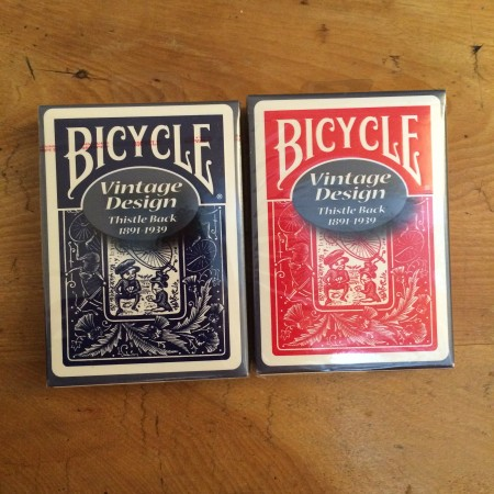 Bicycle Vintage Design (Thistle Back Blue)