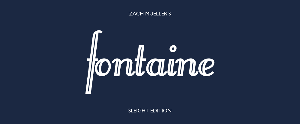 Zach Mueller's Sleight Edition Fontaine Cards